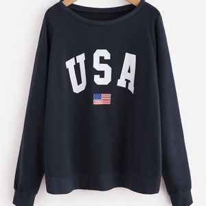 Sweaters - USA Navy Sweatshirt